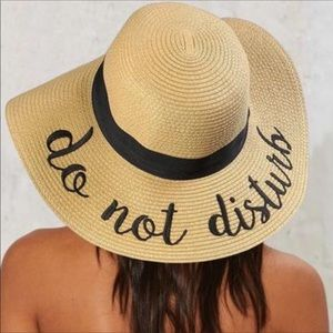 "74f9d8e11fc26 ""Do Not Disturb""Floppy Sun Hat"" for Fun! NWOT"